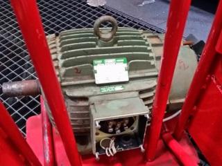 Moteur électrique Fimet asynchrone triphasé B3R boite à bornes sur le côté