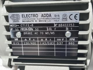 Plaque signalétique moteur Electro Adda